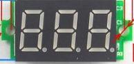 ดิจิตอลโวลต์มิเตอร์ วัดDCได้0- 200v ไม่มีกรอบ