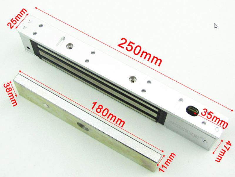 กลอนไฟฟ้าล็อคแม่เหล็ก12Vแบบดูด 270 KG สำหรับ ทำประตูไฟฟ้า