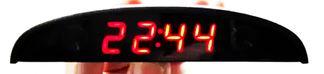 วัด v วัดtemp2ตัว แสดงเวลาได้มีขนาดเล็ก แสงสีแดง ติดรถยนต์มอไซด์ได้