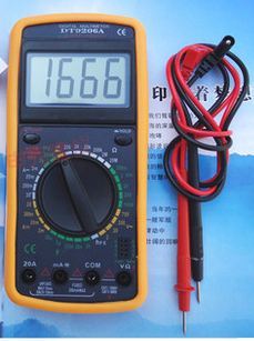 digital multimeter  dT-9206A คุ้มมาก